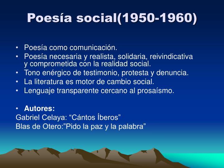 Poesía social(1950-1960)