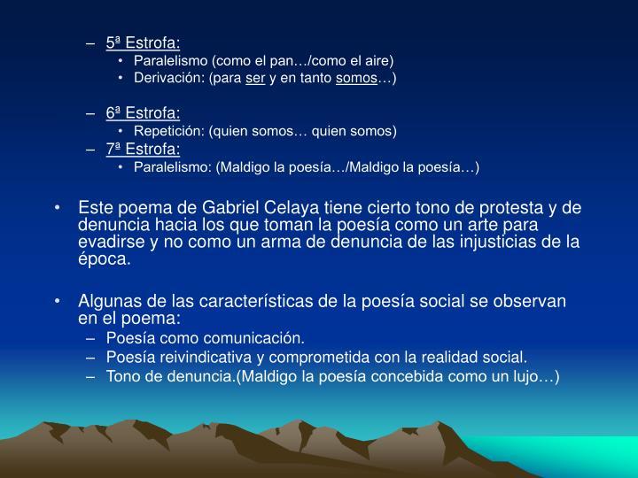 5ª Estrofa: