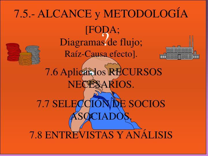 7.5.- ALCANCE y METODOLOGÍA