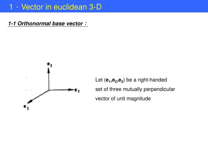 1-1 Orthonormal base vector