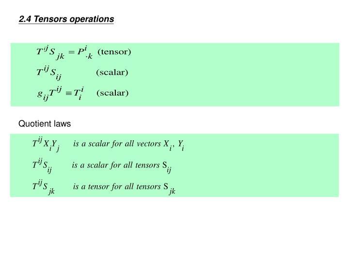 2.4 Tensors operations