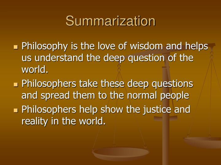 Summarization