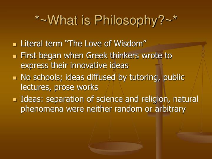 *~What is Philosophy?~*