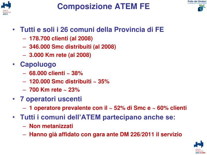 Composizione ATEM FE