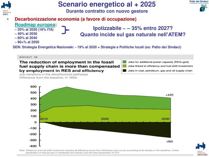 Scenario energetico al + 2025