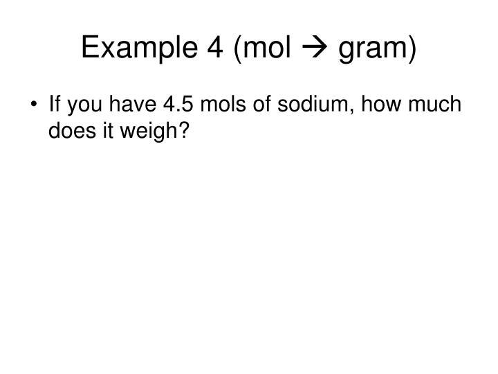 Example 4 (mol