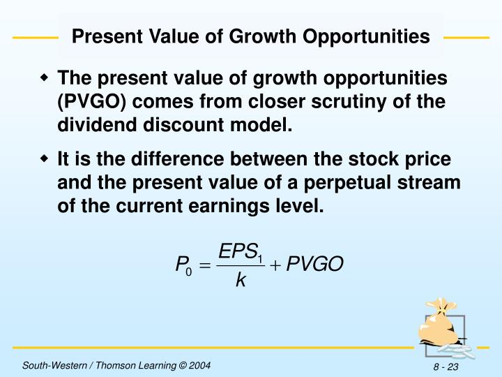 Present Value of Growth Opportunities