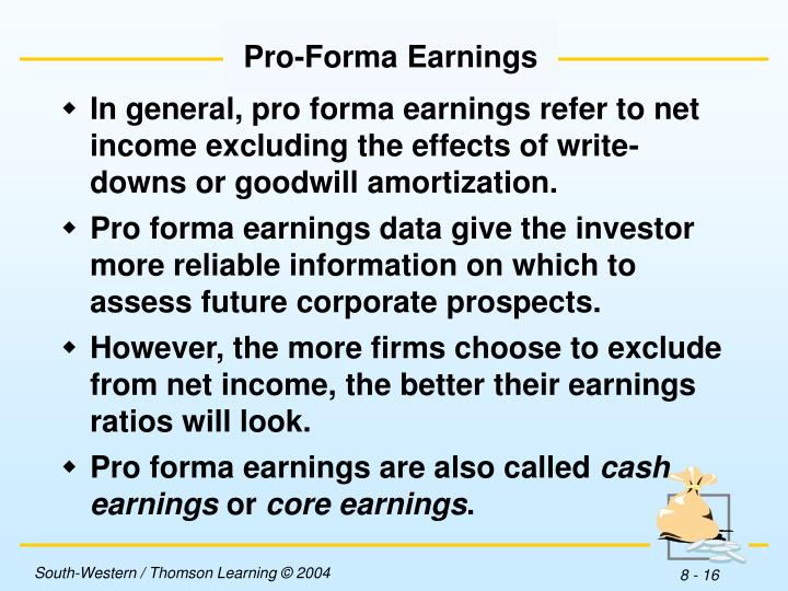 Pro-Forma Earnings