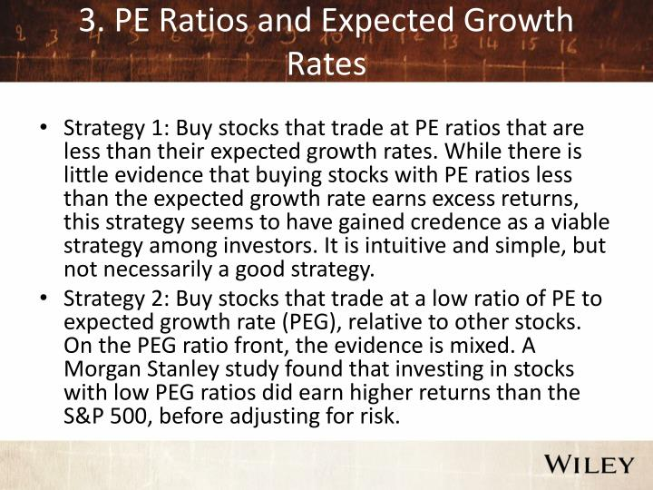 3. PE Ratios and Expected Growth Rates