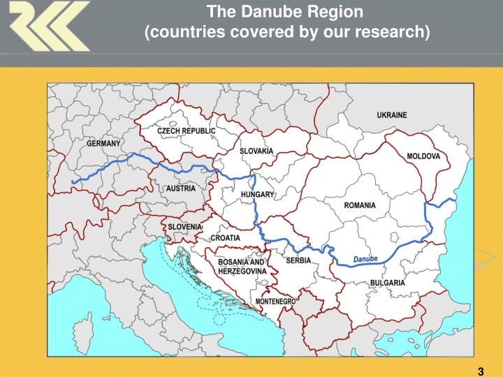 The danube region countries covered by our research