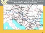 the european transport corridors trans european networks in the danube region