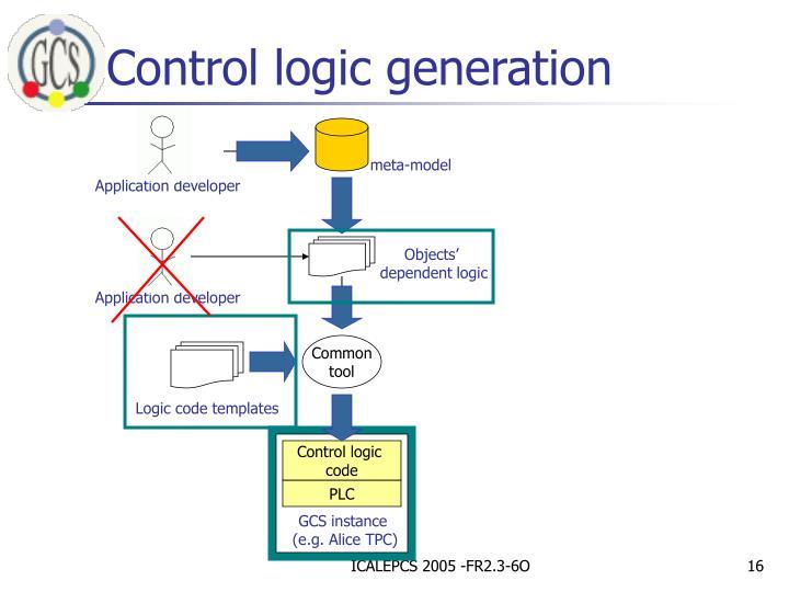 Control logic generation