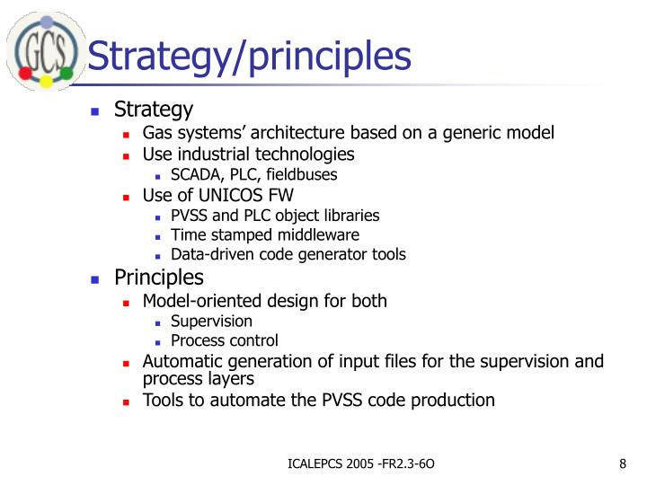 Strategy/principles