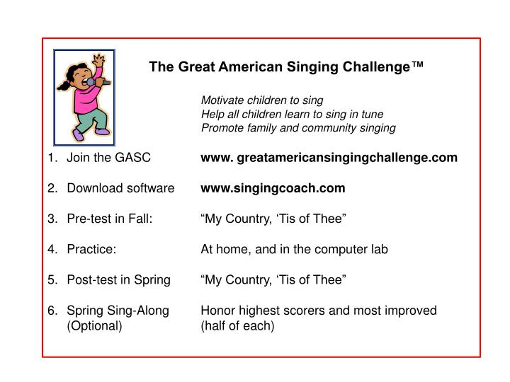The Great American Singing Challenge™
