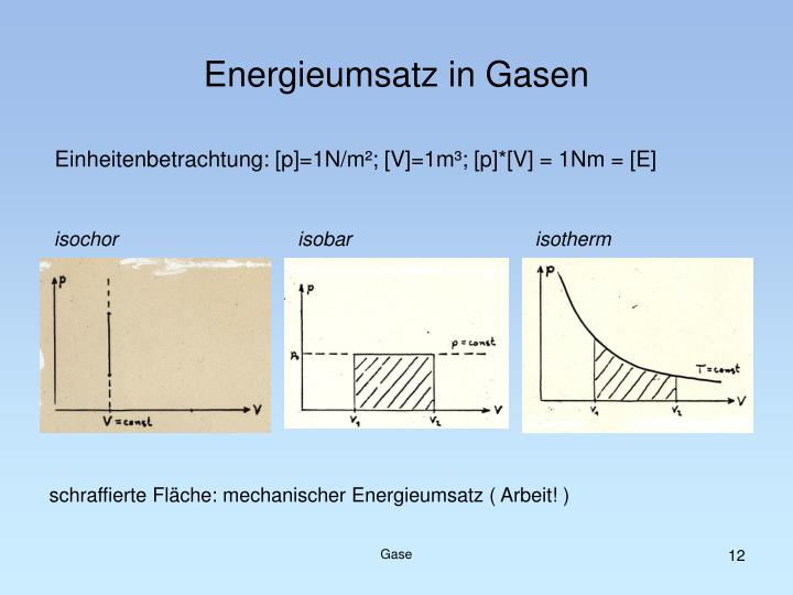 Einheitenbetrachtung: [p]=1N/m²; [V]=1m³; [p]*[V] = 1Nm = [E]