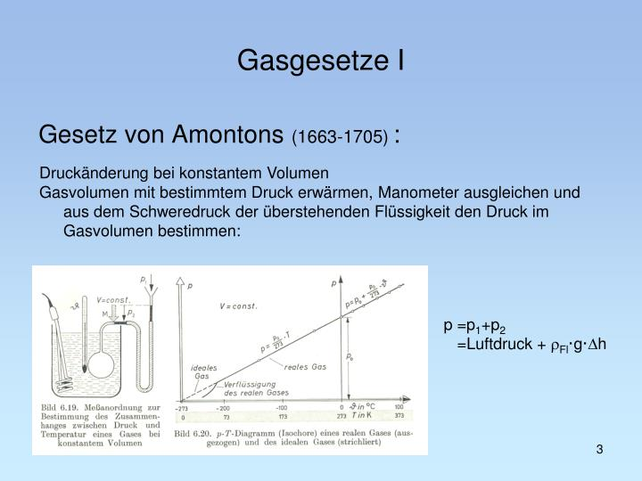 Gasgesetze I