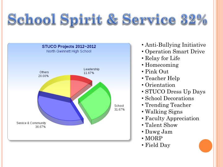 School Spirit & Service 32%