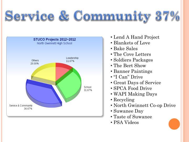 Service & Community 37%