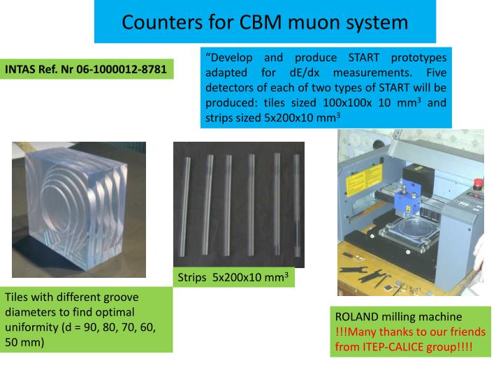 Counters for CBM muon system