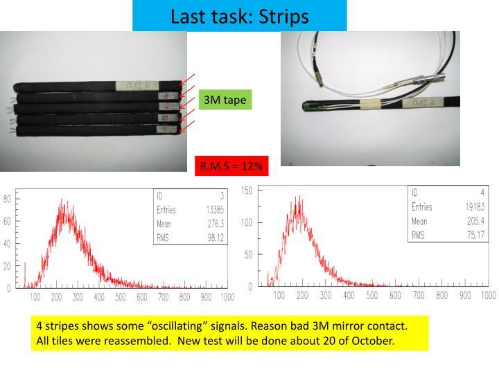 Last task: Strips