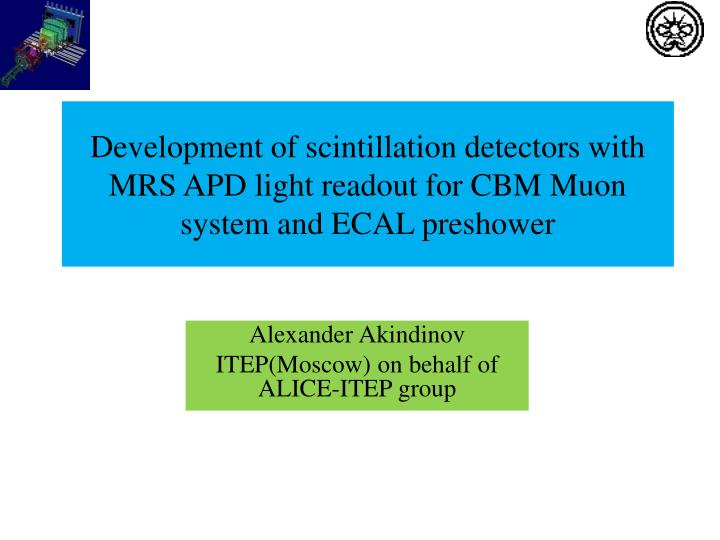 Development of scintillation detectors with MRS APD light readout for CBM Muon system and ECAL presh...