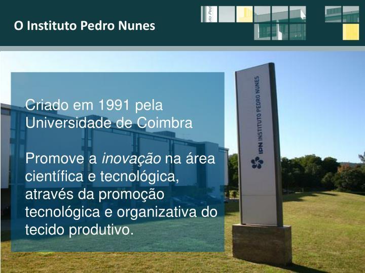 O Instituto Pedro Nunes