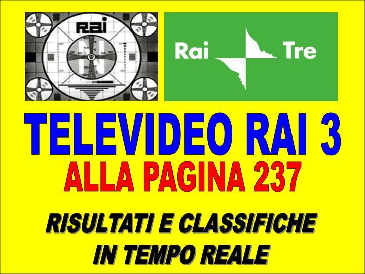 TELEVIDEO RAI 3