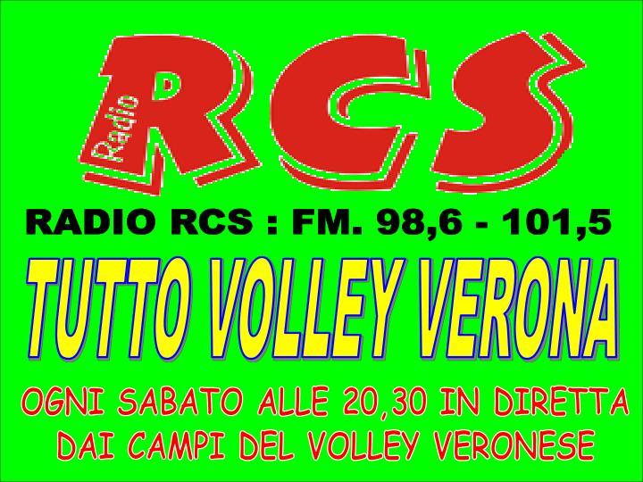 RADIO RCS : FM. 98,6 - 101,5