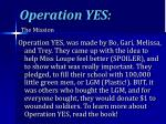 operation yes1