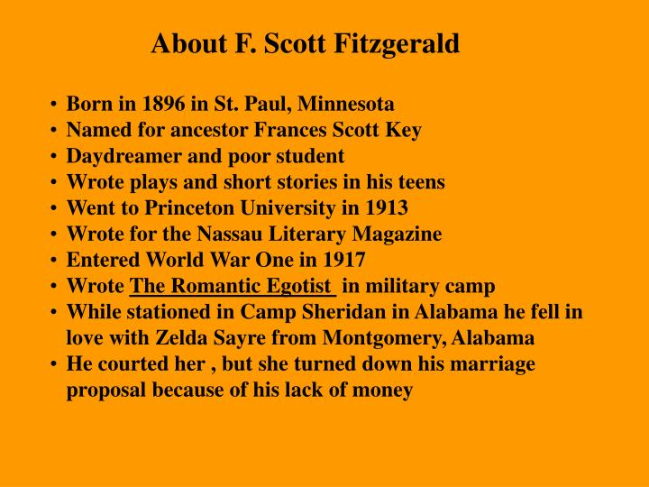 About F. Scott Fitzgerald
