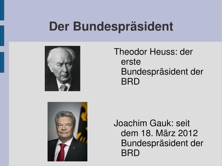 Der Bundesprsident