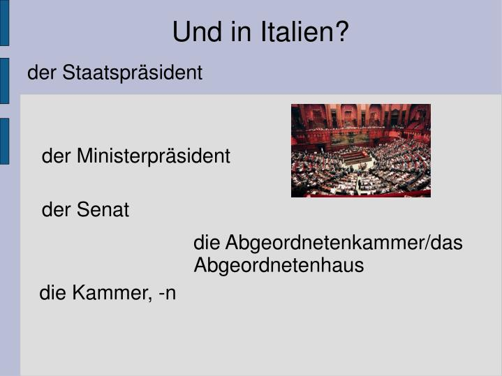 Und in Italien?