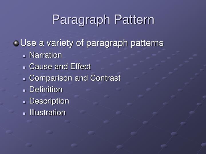 Paragraph Pattern