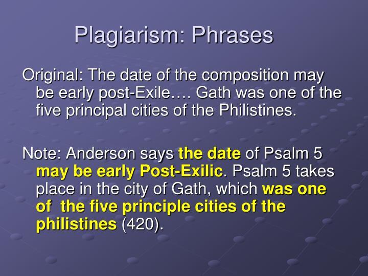 Plagiarism: Phrases