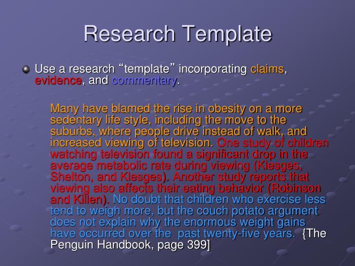 Research Template