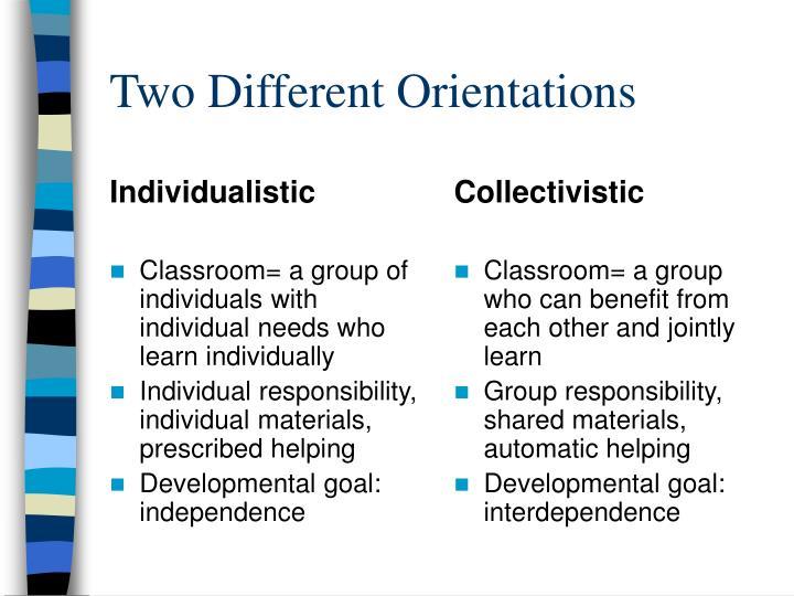 Individualistic