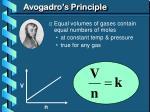 avogadro s principle