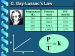 c gay lussac s law