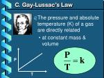 c gay lussac s law1