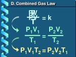 d combined gas law