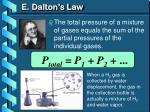 e dalton s law