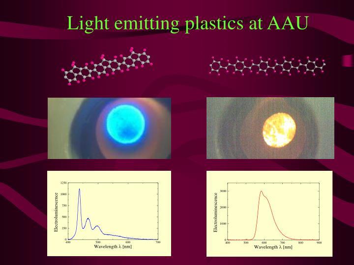 Light emitting plastics at AAU