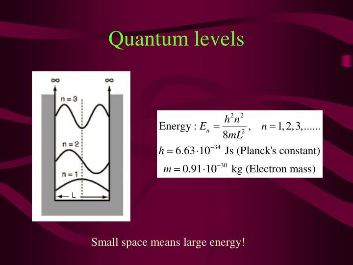 Quantum levels