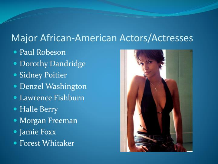 Major African-American Actors/Actresses