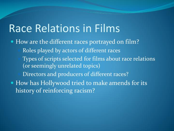 Race relations in films