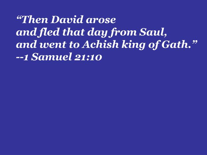 """""""Then David arose"""