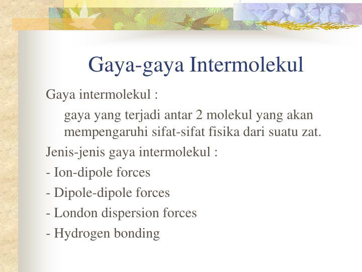 Gaya-gaya Intermolekul