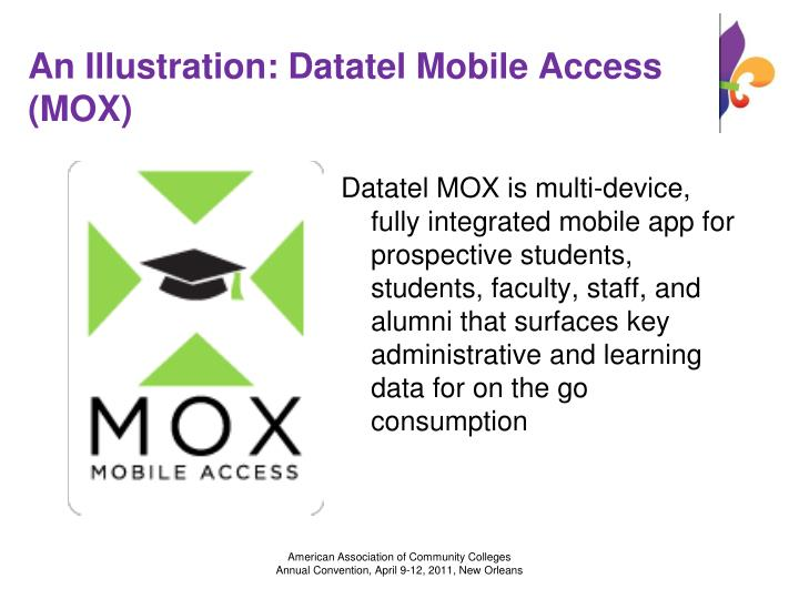 An Illustration: Datatel Mobile Access (MOX)