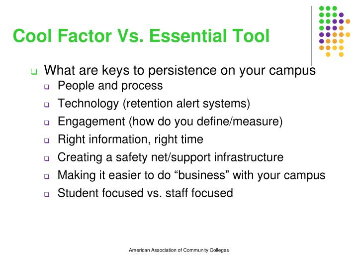Cool Factor Vs. Essential Tool