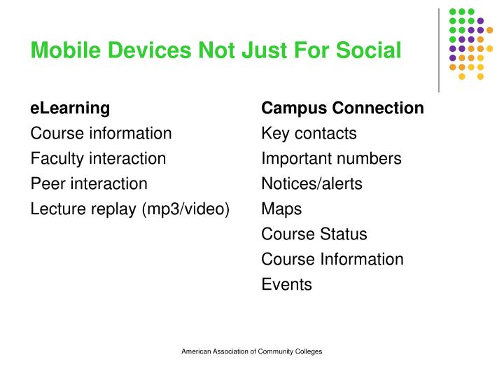 Mobile Devices Not Just For Social